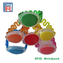 13.56MHz 1K ISO14443A Hotels,Resort Bracelet/wristband tap to open doors waterproof HF RFID tag 100pcs