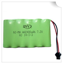 2400mah 7.2v rechargeable battery pack battery nimh 7.2v / aa nimh battery ni-mh 7.2v for Remote control electric toy tool boat(China)