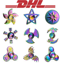 Buy 2017 New Mixed 100Pcs/Lot Adult Anti Stress Relief Toy Hand Tri Fidget Finger Spinner Dragon Rainbow Aluminium Bearing Metal Box for $263.99 in AliExpress store
