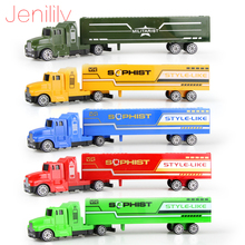 Jenilily 5 color Diecast Alloy and Plastic Truck Toy Model Car Container Green Truck Chirstmas Birthday Gift for children