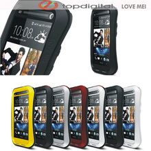 LOVE MEI Powerful Armor Case for HTC One M7 Waterproof Dropproof Shockproof Metal Case for HTC M7 w Tempered Glass Cover