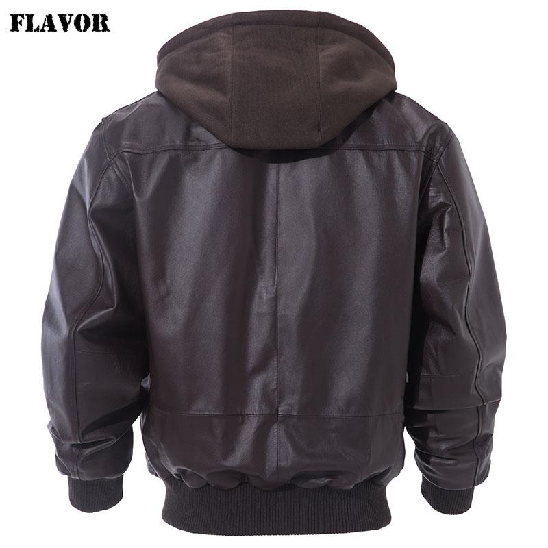 Flavor Mens Real Leather Bomber Jacket Men Lambskin Genuine