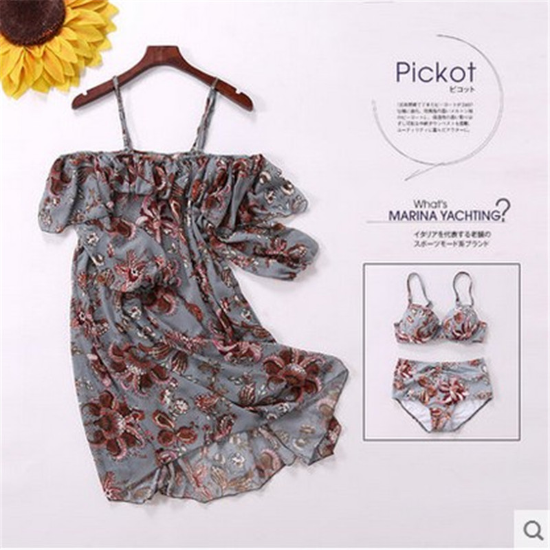 STAERK 2017 sets of new summer sexy national printing small angle gather blouse body sui<br>