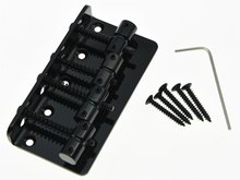 Black 4 String Electric Bass Guitar Bridge for Jazz J Bass Precision P Bass