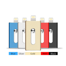 3 all in 1 OTG Apple Android usb Flash Drive 32gb memory storage Metal Pen Drive high compatible with mobile devices PC computer