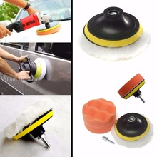 7 Pcs Polishing Buffing Pad Kit for Auto Car Polishing Wheel Kit Buffer With Drill Adapter Car Removes Scratches Car-styling