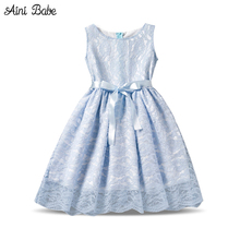 Aini Babe New Designs Kids Clothes 2017 Infant Party Dress Girl Baby Children Clothing Girl Costume Fancy Teen Girl Clothes 10T