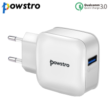 Powstro QC 3.0 USB Wall Charger Quick Charge 3.0 QC 2.0 US EU Plug for iphone Samsung Xiaomi mi5 Mobile Phone Fast Charger(China)