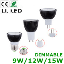 LED Bulb E27 GU10 MR16 12V COB LED Spotlight 9W 12W 15W LED Light Dimmable COB Spot light AC 85-265V For Home Lighting(China)