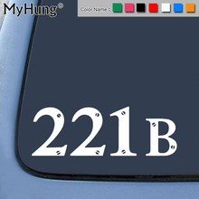 221B High Quality Waterproof Car stikers Window Door Wall Decal Notebook Laptop Auto Accessories 15x22.8 Car-Styling 1pc(China)
