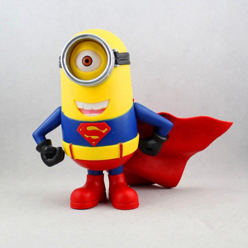 Despicable Me 3 Minions Cosplay Superman Toys 18Cm Minion Model Doll Decoration Pvc Action Figures Mini Hot Juguetes Kids toys<br><br>Aliexpress