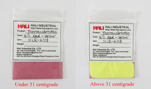sell color to color thermochromic pigment,hot semsitive pigment powder,change powder,1 lot=10g 31C red to yellow, free shipping(China)