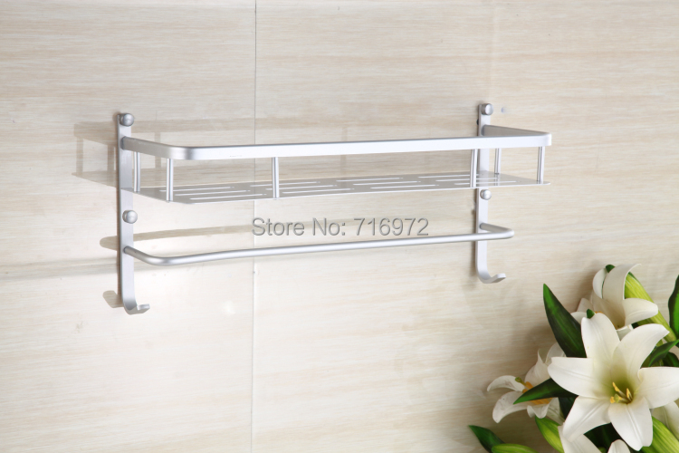 New Arrical Free Shipping Wall Mounted Double Layers(40cm) Bathroom Shelves ,Bathroom Rack, Bathroom Accessories-Wholesale5840<br><br>Aliexpress