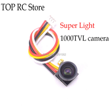 Super Light mini 1000TVL 1/4 CMOS 2.8mm Lens FOV170 Degree sensor FPV Camera with lens cover For FPV RC racing Drone Quacopter(China)