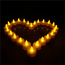 12 pcs Flickering Flameless LED Tea light Flicker Tea Candle Light Party Wedding Candels Safety Home Decoration