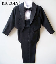 5PCS Children Suit Big Boys Suits Kids Blazer Boys Tuxedo For Weddings Boys Clothes Set Blazer+Shirt+Girdle+Pant+Bow Tie