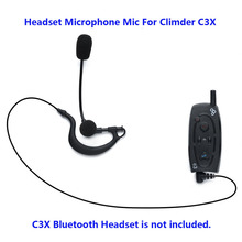 Motorcycle Bluetooth Helme Interphone 3.5mm jack Headset Microphone Mic For Climder C3X Bluetooth Intercom(China)