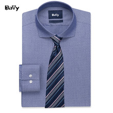 Davy Custom Shirts Made by hand Polka Dot Casual Slim Fit Shirt For Male Camisa Dress Shirt Tailored Plus size  7XL 8XL 9XL