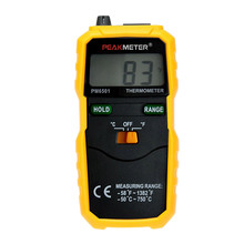 PEAKMETER LCD Wireless Digital Thermometer K Type Accuracy termometro Temperature instrument Thermocouple W/ Data Hold/Logging(China)