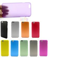 Cheapest Hot Ultra Thin Translucent Plastic Phone Cover Case For iPhone 6  4.7inch