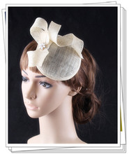Multiple color fascinator hat sinamay base and trim with rhinestome adorned wedding bridal headwear cocktail hair accessory