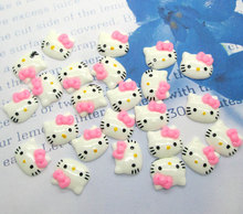 Buy 50Pcs Mixed Mini Pink Cats Resin Decoration Crafts Flatback Beads Cabochon Scrapbook DIY Embellishments Accessories Buttons for $2.54 in AliExpress store