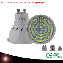 Lamp27 E27 MR16 GU10 LED FLASHLIGHT 220 V 230 V LED Bulbs Lamp 4 W 6 W 8 W 48LED 60LED Spot 80LED 2835 Lamp Plant light