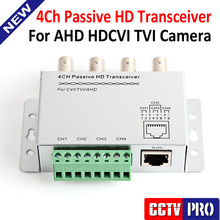 CCTV 4 Channel UTP Video Balun BNC To UTP RJ45 Camera Passive 4CH Video Balun Transmitter Support 720P AHD Camera 250m