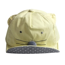 Cute Cartoon Mice Hat For Baby Kids Boys Girls Baseball Cap Child Cotton Hat 1 to 3 Years Head Wear