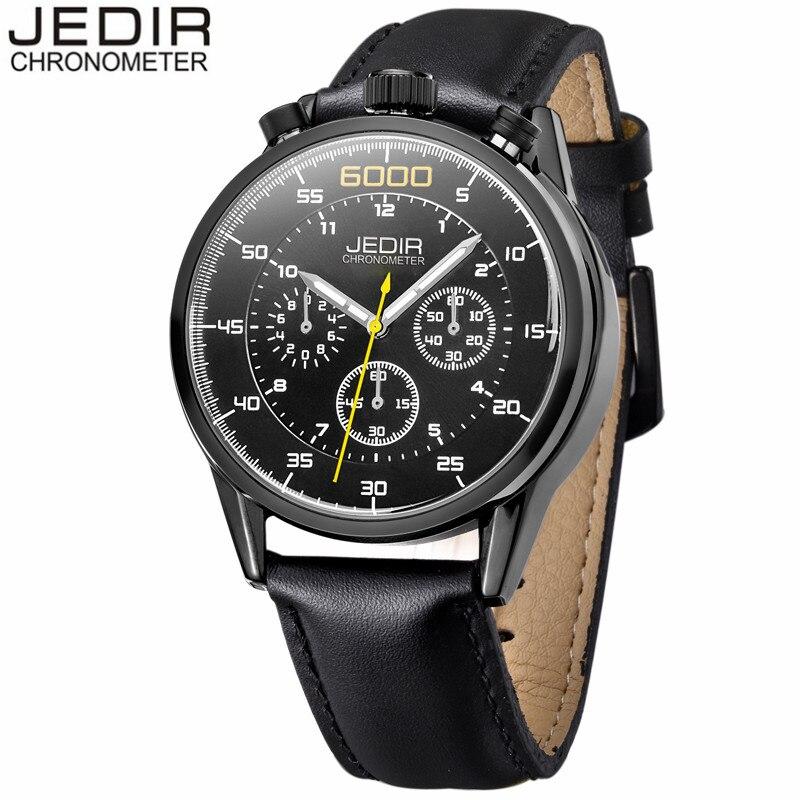 JEDIR Watches Men Sport Chronograph Luminous Analog Leather Quartz Watch Man Military Waterproof Wristwatch relogio masculino<br><br>Aliexpress