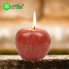 2 pcs Paraffin Apple, Christmas Red Apple, Shape Fruit Scented Candle,Home Decoration Greet Gift Free shipping!(China)