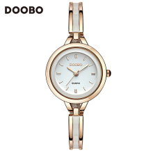 2017 Luxury Women Watch Famous Brands Gold Fashion Design Bracelet Watches Ladies Women Wrist Watches Relogio Femininos DOOBO(China)