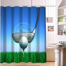 F516XY6 Custom  Playing golf ball Fabric Modern Shower Curtain bathroom Waterproof  LF4