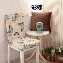 Wholesale Dining Chair Cover 100% Polyester Pattern Printing Anti-Dirty Chair cover Decoration Home Hotel Chair Covers(China)
