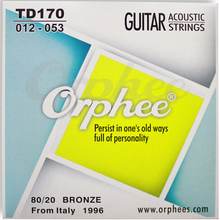 Guitar accessories, orphee Phosphor copper folk / acoustic guitar strings