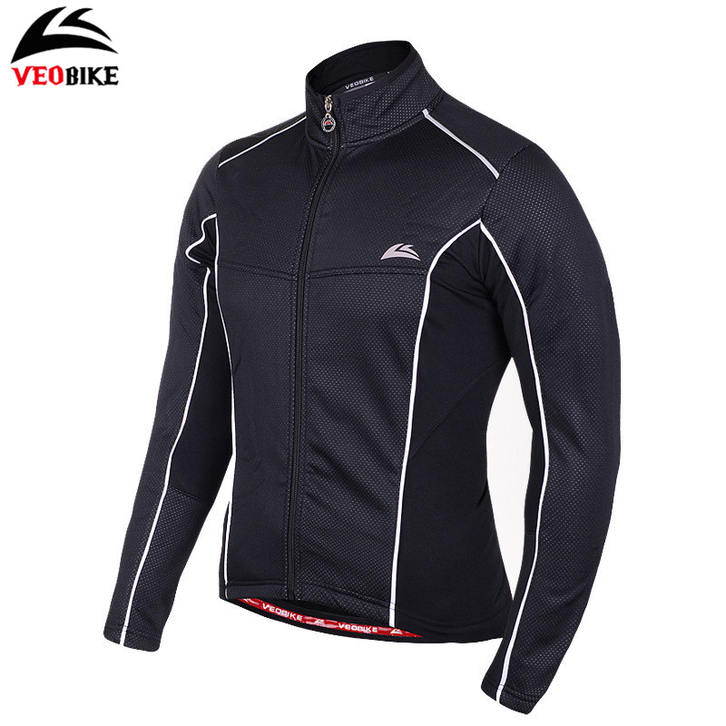 VEOBIKE Cycling Jersey Fleece Thermal Thicken WindStopper Jackets Ropa Winter Ciclismo Clothing Men MTB Road Bike Cycling Jersey<br>