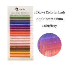 Eyemix C curl Rainbow Colorful Eyelashes 8 Colors Eyelash Extension 10mm 12mm Inidividaul False Eyelashes Freeshipping