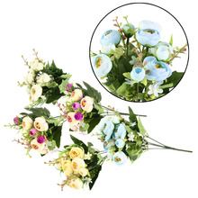 10 Heads Artificial Camellia Flower Bouquet Home Wedding Party Decoration Cheap Price hot selling