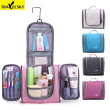 Travelsky Family Travel Organizer Bag Hanging Toilet Makeup Bag Women's Waterproof Washing Toiletry Handbags Men Cosmetic Bags(China)