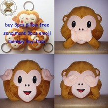 New Emoji Pillow For Whats app, No Saying No Looking and No Listening Emoji Monkey Pillow & Cushion, Stuffed & Plush Monkey Toy