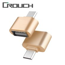 Crouch Metal Mini Micro USB To USB OTG Adapter 2.0 Converter For Samsung/Xiaomi/Huawei Android Phones