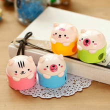I44 1X Cute Kawaii Bear Pencil Sharpener for Pencils Student Rewarding School Office Supplies Stationery Papeleria