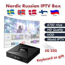 Buy Android tv box TX9 Pro 3G 32G Amlogic S912 iptv box Sweden Nordic Arabic Europe iptv 4700 live free smart tv box for $108.00 in AliExpress store