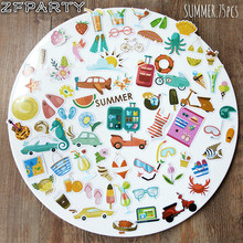 ZFPARTY Summer Die Cuts Stickers for Scrapbooking Happy Planner/Card Making/Journaling Project 75pcs(China)