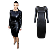 Buy 2017 Sexy Women Latex Dress Faux Leather Slim Costume Party Bodysuit Clubwear Bodysuit Black Sexy Dress Exotic Apparel Clothing