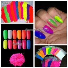 Nail Glitter Neon Fluorescent Powder,not Luminous Glow Powder 100g/bag,Phosphor Pigment Powder for Nail Polish&Painting&Printing