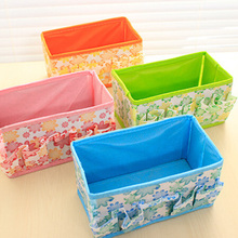 New Arrival Green/Blue/Purple/Pink/Orange Multifunction Beauty Flower Folding Makeup Cosmetic Storage Box(China)