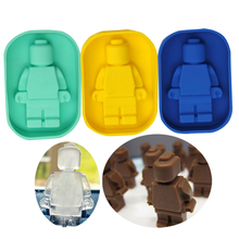 DIY 3D Robot Mini Figure 1pc Cake Decorating Tools Chocolate Silicone Molds Ice Cube Moulds