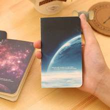 1 Pics 12.5*7cm Kawaii Mini Notepad Star sky Ocean Series Cute Notebook Cartoon Note Book Small School Supplies For Kid BJB2