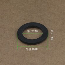 "10x Rubber Flat Washers Gaskets DN32 G1 1/4"" 40 x 25 x 2.5mm ""O"" Ring Sealing Flange Insulation Spacer OD40 ID25 Black UL SGS"
